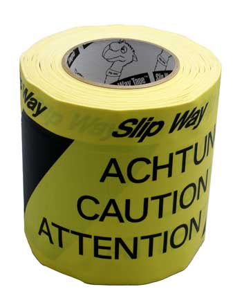 TUNNEL TAPE 150mm x 33m NOIR/JAUNE