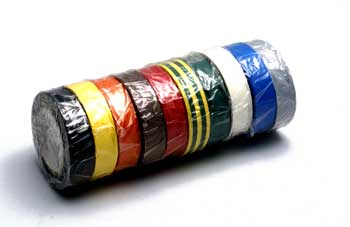 ADHESIF VINYLE 15mm x 10m 10 couleurs assorties